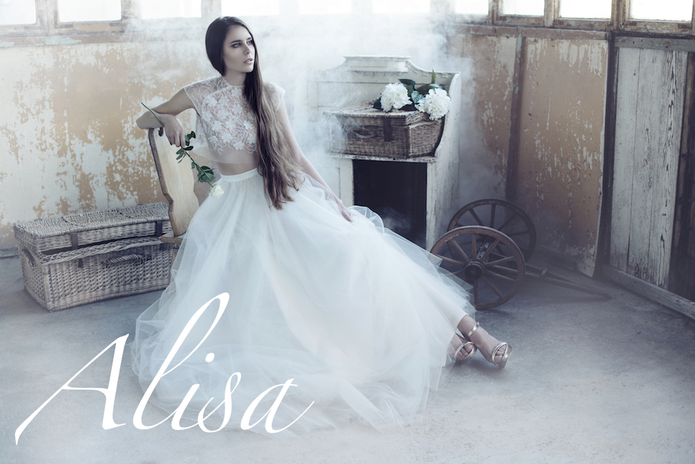 Alisa wedding dresses, bridal gowns, tailor made, wedding designer